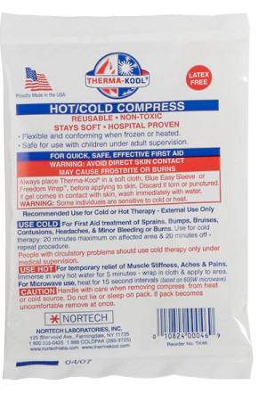 """Reusable Therma-Kool 4"""" x 6"""" Cold/Hot Pack"""