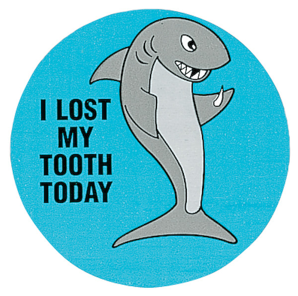 """I Lost My Tooth Today"" Stickers, 500/Roll"