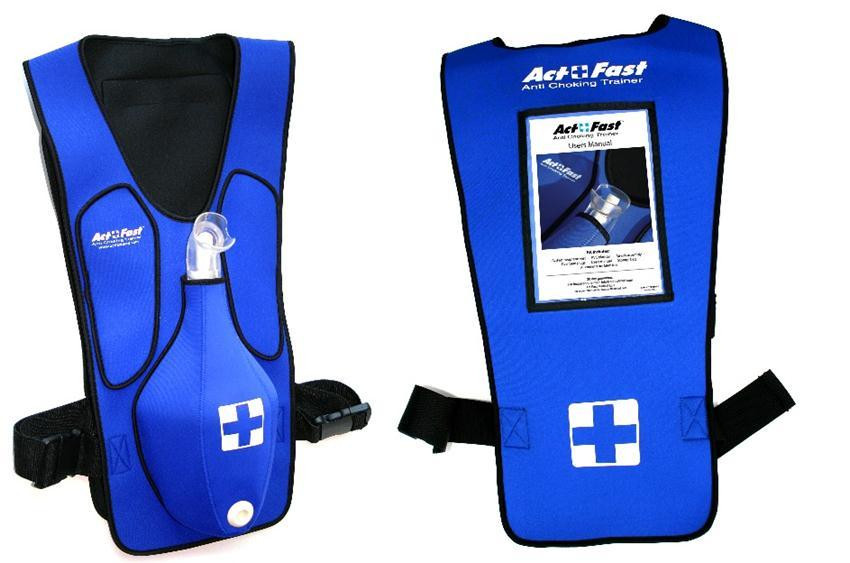 Anti-Choking Blue Trainer Vest
