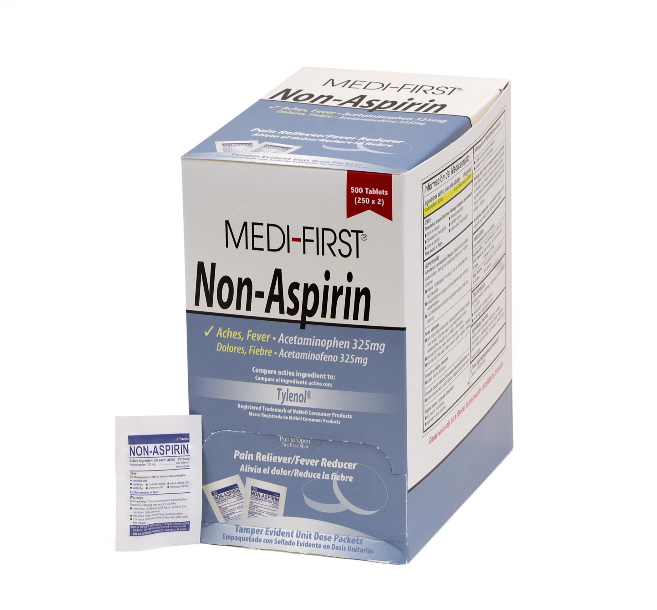 APAP 325 mg Unit Dose Packets, 250/Box