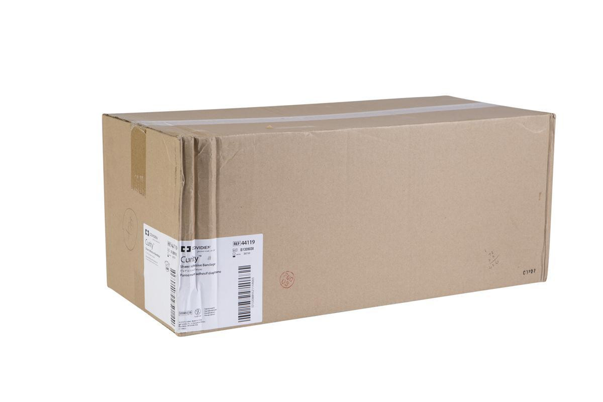 """1"""" x 3"""" Sheer Covidien Curity Bandages, 72 Boxes/Case"""