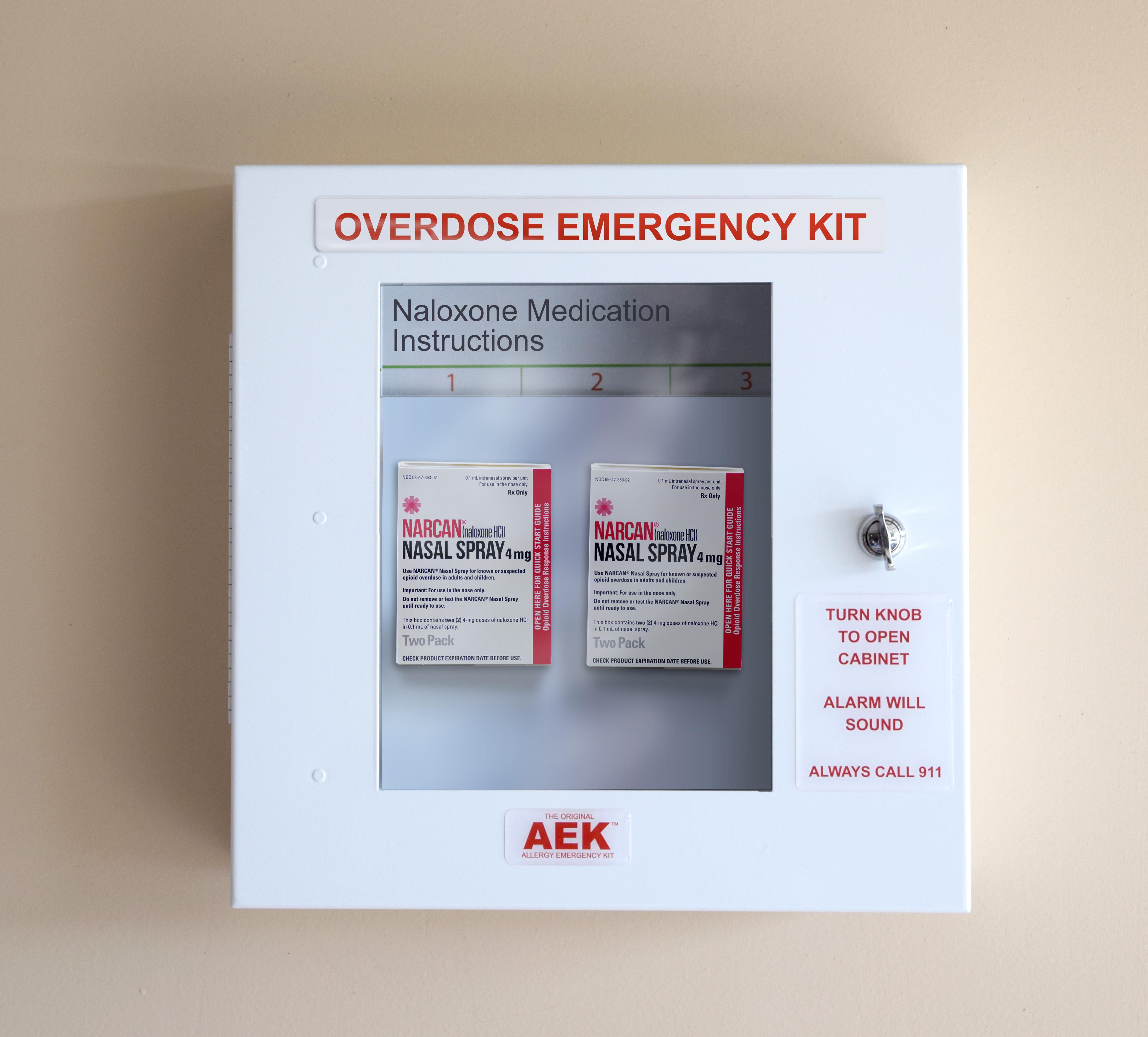 Overdose Emergency Kit Locking Cabinet