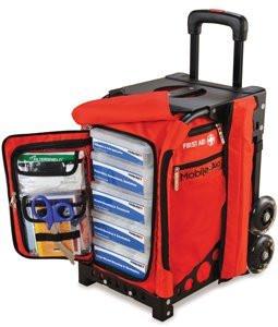 MobileAid EASY-ROLL Hi-Visibility Trauma First Aid Station