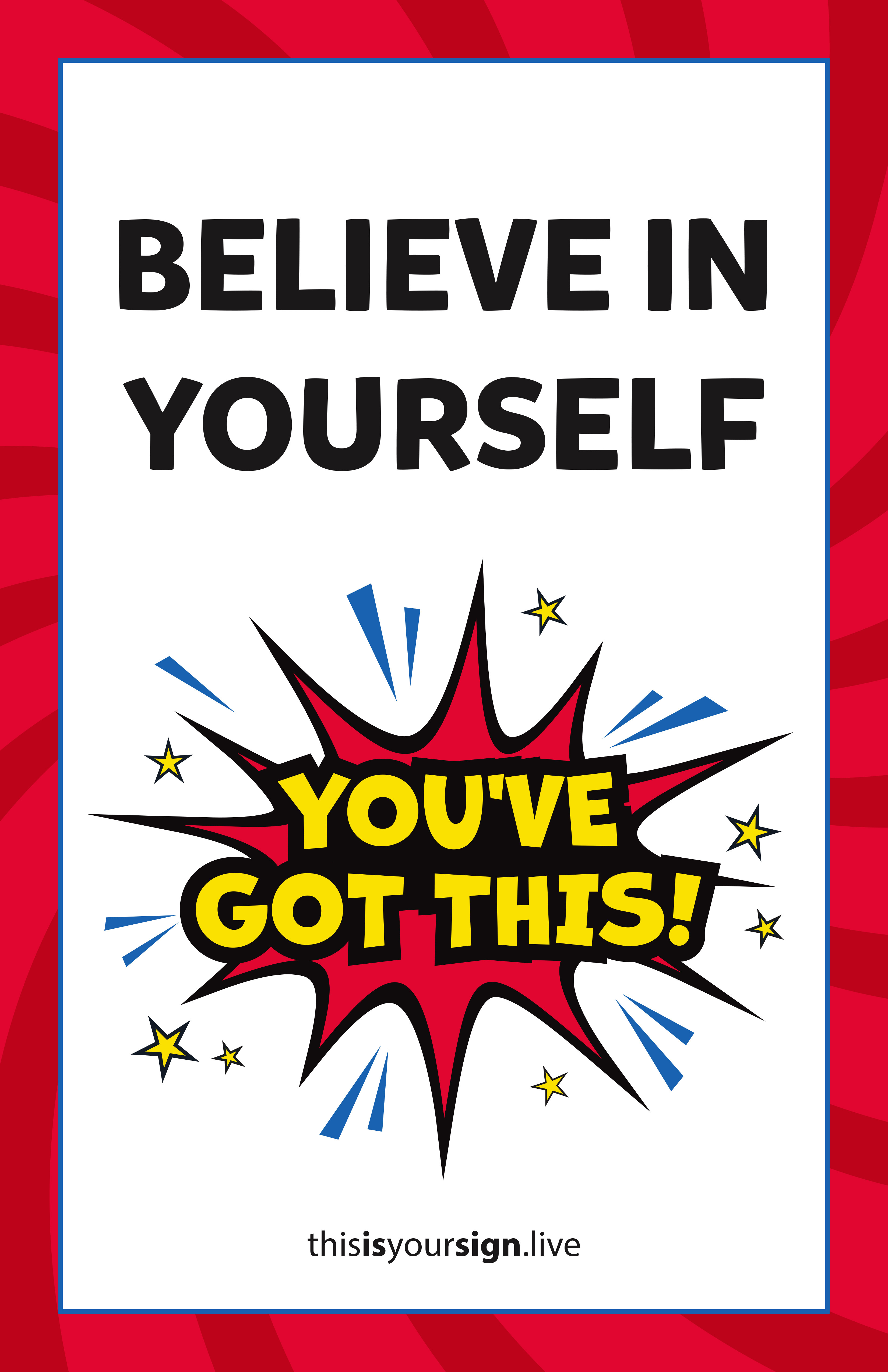 Macgill Superyou Series Believe In Yourself 11 X 17 Poster