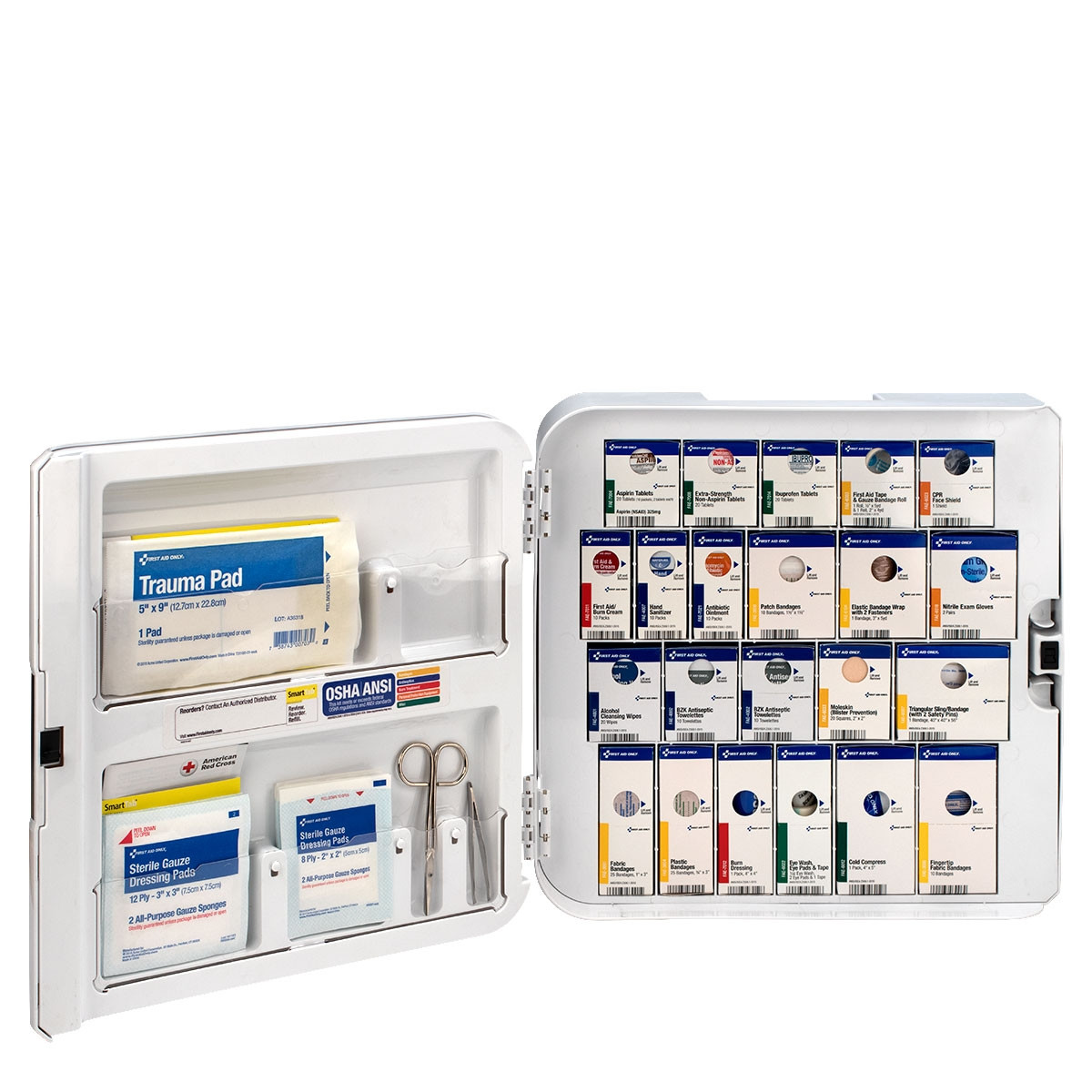 Smart Compliance Complete 50-Person First Aid Cabinet w/Meds