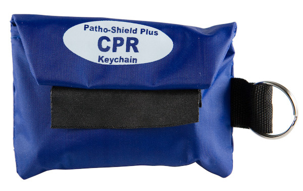 Economy CPR Face Shield in Blue Nylon Pouch w/Key Ring