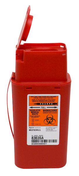 1 Quart Flip-Top Transportable Sharps