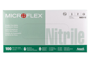 Microflex Nitrile Powder-Free Gloves, Small 100/Box