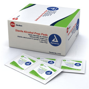 Medium Alcohol Prep Pads, 200/Box