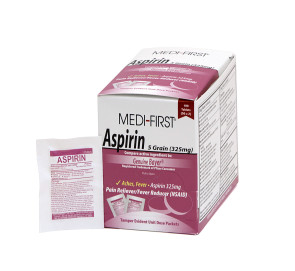 Economy Aspirin 325 mg, 50 Packs of 2 Per Box
