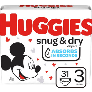 Huggies Snug and Dry Diapers Size 3, 31/Pack