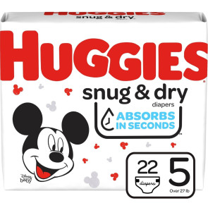 Huggies Snug and Dry Diapers Size 5, 22/Pack
