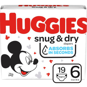 Huggies Snug and Dry Diapers Size 6, 19/Pack