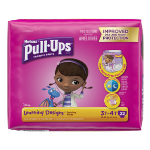 Huggies Pull Ups for Girls, 3T-4T, 22/Pack