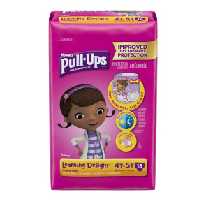 Huggies Pull Ups for Girls, 4T-5T, 18/Pack