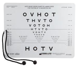 HOTV Near Vision Card