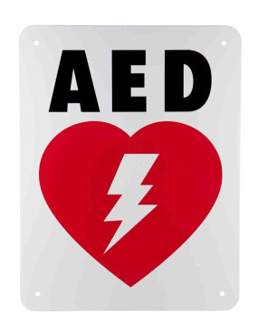 "Flat AED Sign, 9"" x 11.5"""