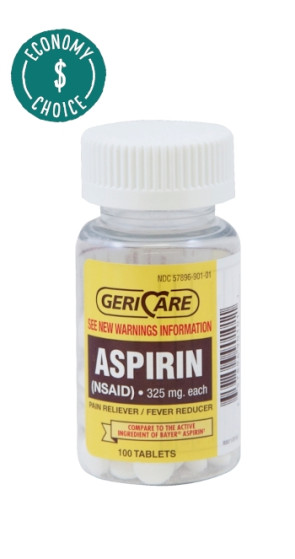 Aspirin Tablets, 325mg,100/Bottle