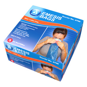 Eme-Bag Sickness Bags, 5/Pack