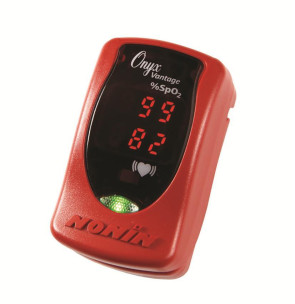 Nonin Onyx Vantage 9590 Finger Pulse Oximeter, Red