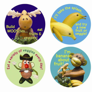 Foodscape Stickers 200/Roll