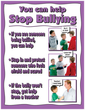 You Can Help Stop Bullying Poster