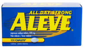 Aleve 220 mg Caplets, 100/Bottle
