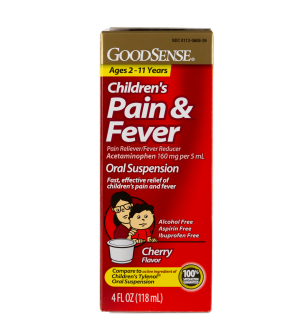 Acetaminophen Children's Liquid, 4 Oz Bottle