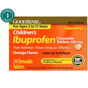 Ibuprofen Children's Chewables,100 mg, 24 Per Box