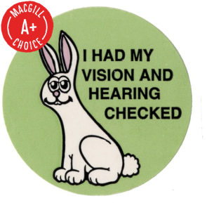"""I Had My Vision & Hearing Checked"" Stickers, 500/Roll"