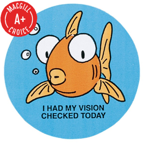 """I Had My Vision Checked Today"" Stickers, 500/Roll"
