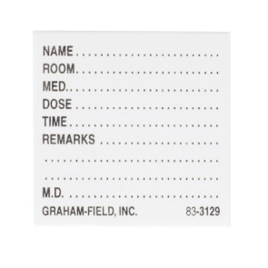 "Medicine Cards, White 1-1/2"" x 1-3/4"", 500/Pack"