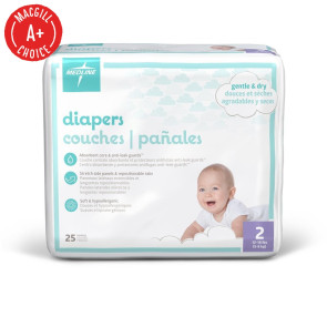 Economy Diapers, Size 2, 25 per pack