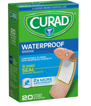 Curad Waterproof Bandages, 20/Box