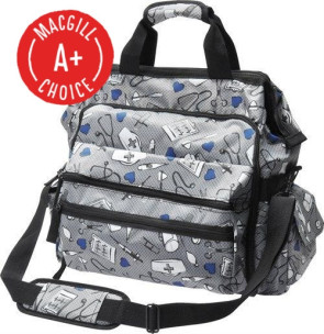 Nurse Mates® Ultimate Nursing Bag, Medical Pattern, Gray