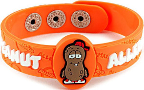 """P. Nutty"" Peanut Allergy Wristband"