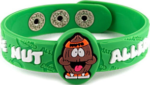 """Nutso"" Tree Nut Allergy Wristband"