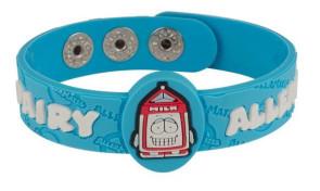"""Pint"" Dairy Allergy Wristband"