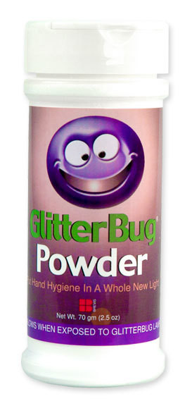 Glitterbug Powder, 8 Oz UV Teaching Powder
