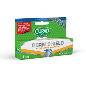 Curad Germ Shield Antimicrobial Wound Gel, .5 oz Tube