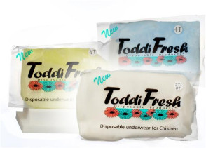 Toddi Fresh Disposable Underwear, Size 8