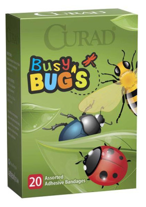 Curad Busy Bugs Assorted Bandages, 20/Box