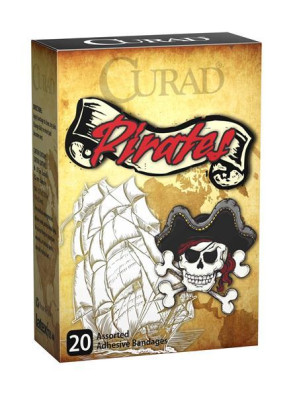 Curad Pirates Assorted Bandages, 20/Box