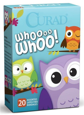 Curad Owls Assorted Bandages, 20/Box
