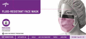 Fluid Resistant Face Mask with Ear Loops
