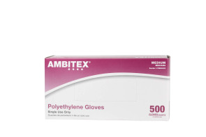 Medium Non-Medical Polyethylene Gloves, 500/Box