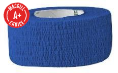 "1"" x 5 Yds Latex Free Economy Self Adherent Wrap, Blue"