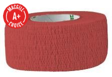 "1"" x 5 Yds Latex-Free Economy Self Adherent Wrap Red"