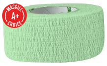 "1"" x 5 Yards Latex Free Economy Self Adherent Wrap Green"