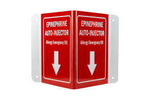 3D Epinephrine/Allergy Emergency Kit Sign